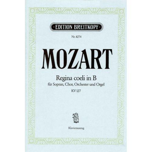 EDITION BREITKOPF MOZART W.A. - REGINA COELI IN B KV 127