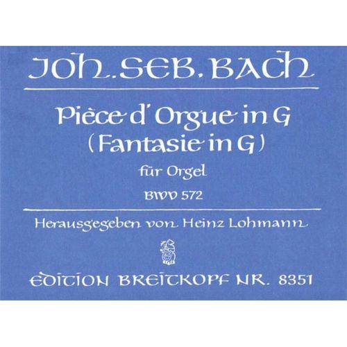 EDITION BREITKOPF BACH JOHANN SEBASTIAN - PIECE D'ORGUE IN G BWV 572 - ORGAN