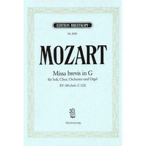 EDITION BREITKOPF MOZART WOLFGANG AMADEUS - MISSA BREVIS IN G KV140(C1.12) - PIANO