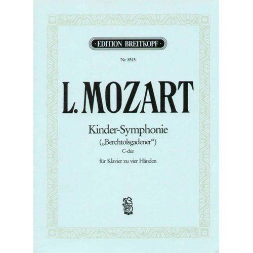 EDITION BREITKOPF MOZART LEOPOLD - KINDER-SYMPHONIE - PIANO