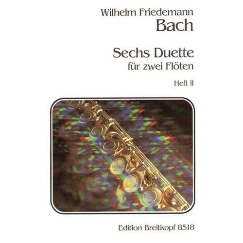 EDITION BREITKOPF BACH W.F. - SECHS DUETTE, HEFT 2