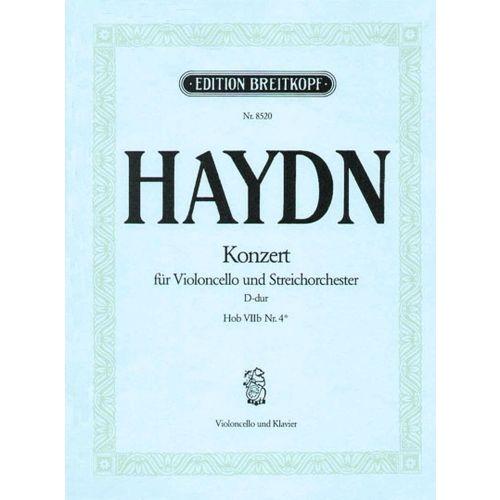 EDITION BREITKOPF HAYDN J. - VIOLONCELLOKONZERT D VIIB:4