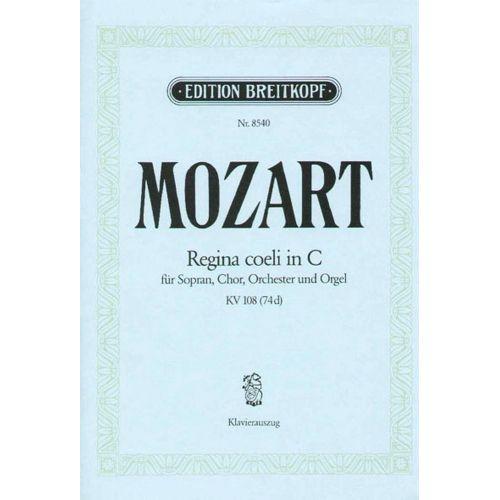 EDITION BREITKOPF MOZART W.A. - REGINA COELI IN C KV 108 (74D)