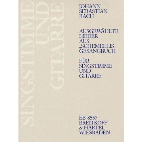 EDITION BREITKOPF BACH J.S. - AUSGEW. LIEDER A. SCHEMELLIS G