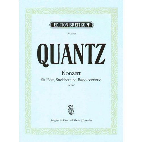 EDITION BREITKOPF QUANTZ J.J. - CONCERTO SOL MAJEUR QV 5:174 - FLUTE, PIANO