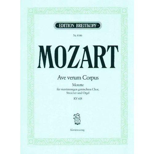 EDITION BREITKOPF MOZART W.A. - AVE VERUM CORPUS KV 618