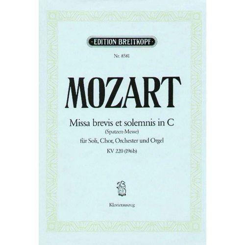 EDITION BREITKOPF MOZART W.A. - MISSA BREVIS IN C KV 220(196B)