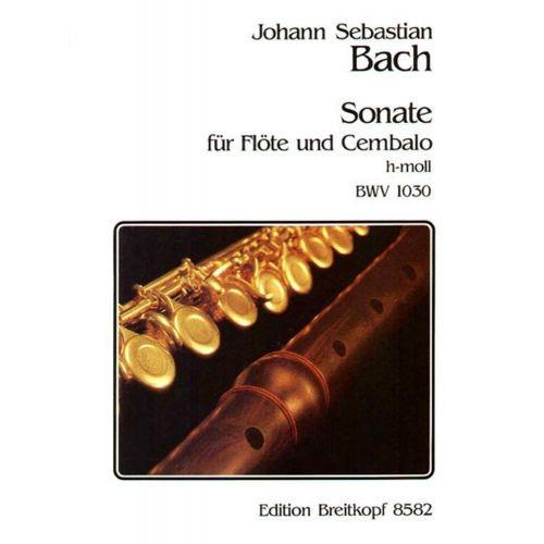 EDITION BREITKOPF BACH J.S. - SONATE H-MOLL BWV 1030 - FLUTE, CLAVECIN