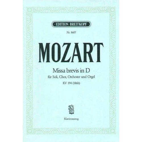 EDITION BREITKOPF MOZART WOLFGANG AMADEUS - MISSA BREVIS IN D KV 194(186H) - PIANO