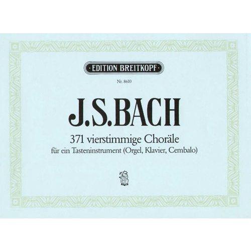 EDITION BREITKOPF BACH J.S. - 371 4ST.CHORALE BWV 253-438