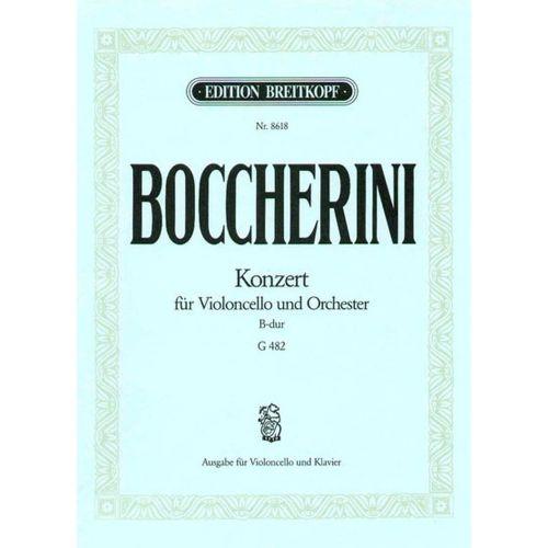 EDITION BREITKOPF BOCCHERINI L. - CONCERTO POUR VIOLONCELLE SI B MAJEUR - VIOLONCELLE, PIANO