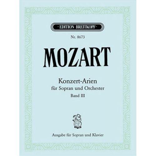 EDITION BREITKOPF MOZART W.A. - KONZERTARIEN FUR SOPRAN BD. 3