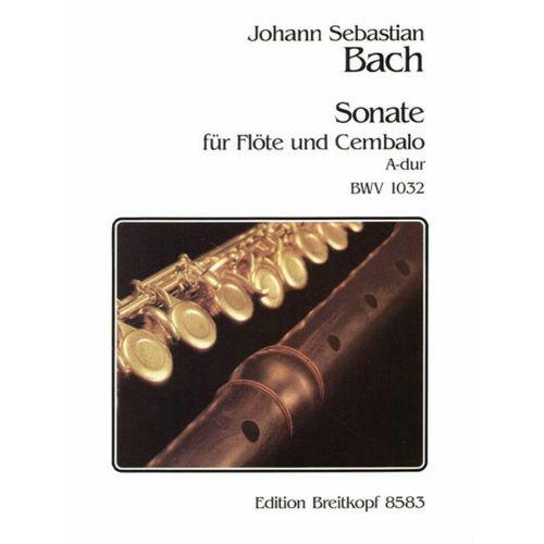 EDITION BREITKOPF BACH J.S. - SONATE A-DUR BWV 1032 - FLUTE, CLAVECIN