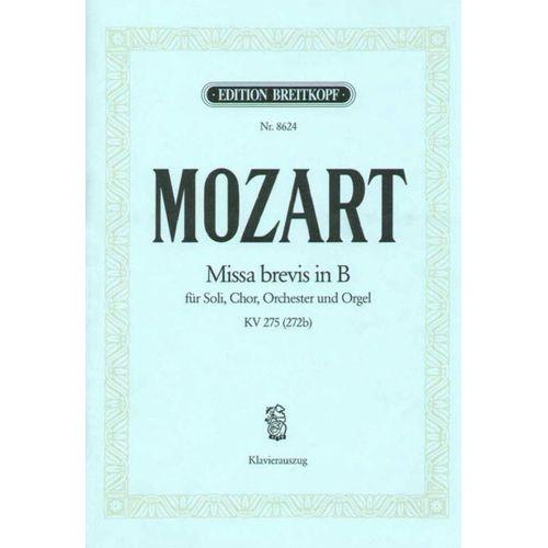 EDITION BREITKOPF MOZART W.A. - MISSA BREVIS IN B KV 275