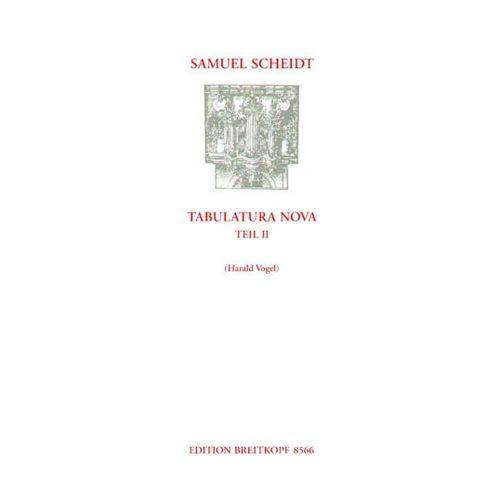 EDITION BREITKOPF SCHEIDT S. - TABULATURA NOVA, TEIL 2