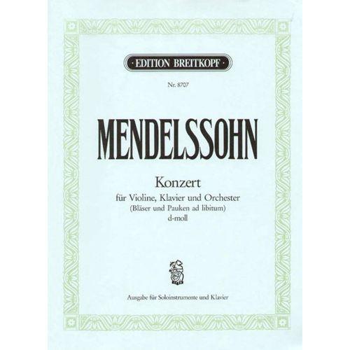 EDITION BREITKOPF MENDELSSOHN BARTHOLDY F. - KONZERT D-MOLL
