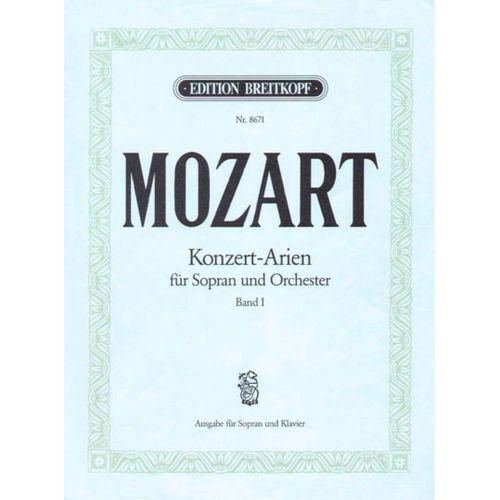 EDITION BREITKOPF MOZART W.A. - KONZERTARIEN FUR SOPRAN BD.I