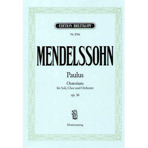 EDITION BREITKOPF MENDELSSOHN BARTHOLDY F. - PAULUS OP. 36