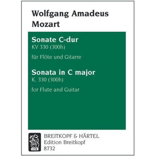 EDITION BREITKOPF MOZART WOLFGANG AMADEUS - SONATE C-DUR KV 330 (300H) - FLUTE, GUITAR