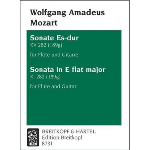 EDITION BREITKOPF MOZART WOLFGANG AMADEUS - SONATE ES-DUR KV 282 (189G) - FLUTE, GUITAR
