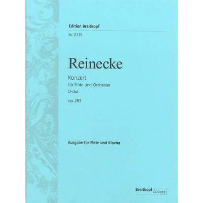 EDITION BREITKOPF REINECKE C. - FLÖTENKONZERT D-DUR OP. 283