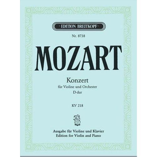 EDITION BREITKOPF MOZART W.A. - VIOLINKONZERT D-DUR KV 218