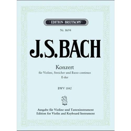 EDITION BREITKOPF BACH J.S. - VIOLINKONZERT E-DUR, BWV 1042