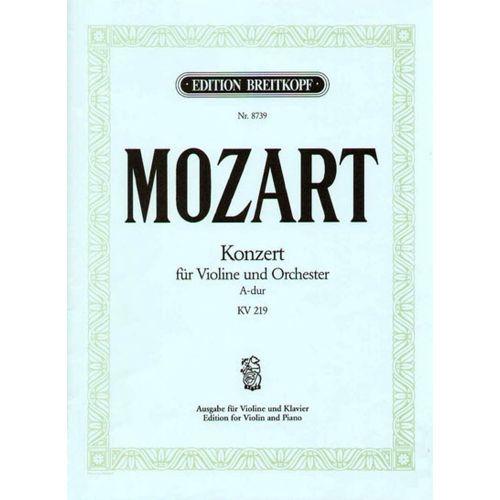EDITION BREITKOPF MOZART W.A. - VIOLINKONZERT A-DUR KV 219