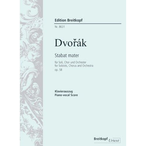 EDITION BREITKOPF DVORAK A. - STABAT MATER OP. 58