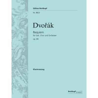 EDITION BREITKOPF DVORAK ANTON - REQUIEM OP.89 - VOCAL SCORE