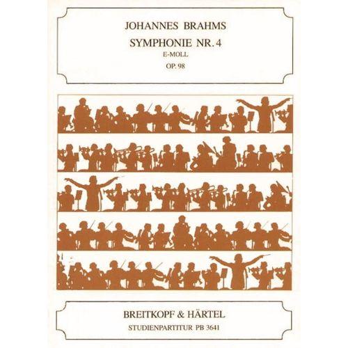 EDITION BREITKOPF BRAHMS JOHANNES - SYMPHONIE NR. 4 E-MOLL OP. 98 - ORCHESTRA