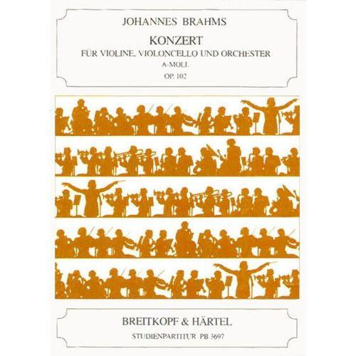 EDITION BREITKOPF BRAHMS JOHANNES - KONZERT A-MOLL OP. 102 - VIOLIN, CELLO, ORCHESTRA
