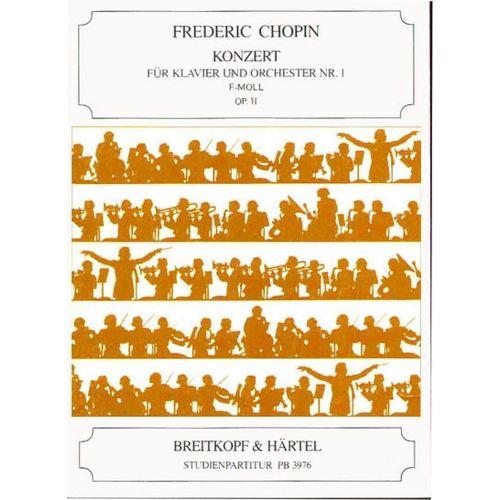 EDITION BREITKOPF CHOPIN FREDERIC - KLAVIERKONZERT 1 E-MOLL OP.11 - PIANO, ORCHESTRA