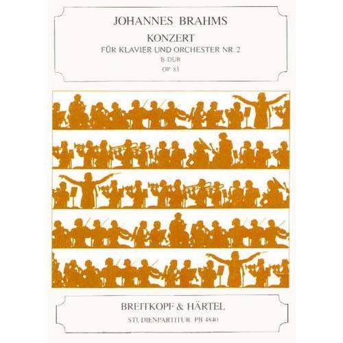 EDITION BREITKOPF BRAHMS JOHANNES - KLAVIERKONZERT 2 B-DUR OP. 83 - PIANO, ORCHESTRA