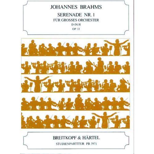 EDITION BREITKOPF BRAHMS JOHANNES - SERENADE NR. 1 D-DUR OP. 11 - ORCHESTRA