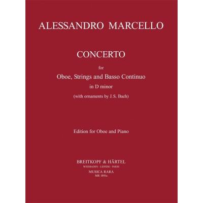 MUSICA RARA MARCELLO ALESSANDRO - CONCERTO EN RE MINEUR - HAUTBOIS & PIANO