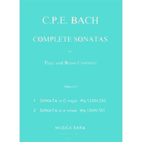 MUSICA RARA BACH CARL PHILIPP EMANUEL - SONATEN, BAND 1 WQ 123,124 - FLUTE, BASSO CONTINUO