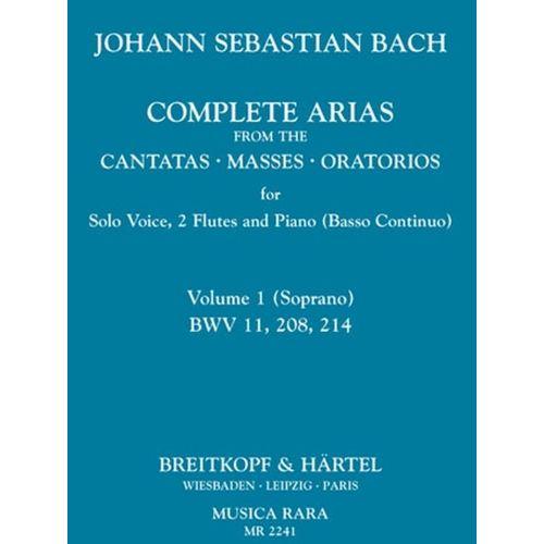 MUSICA RARA BACH J.S. - COMPL. ARIAS (VOC,2 FL) VOL.1
