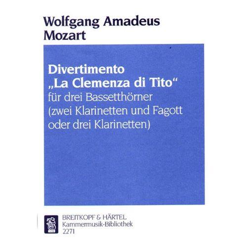 EDITION BREITKOPF MOZART WOLFGANG AMADEUS - DIVERTIMENTO TITUS - 3 BASS HORN