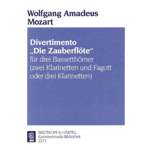 EDITION BREITKOPF MOZART WOLFGANG AMADEUS - DIVERTIMENTO ZAUBERFLÖTE - 3 BASS HORN