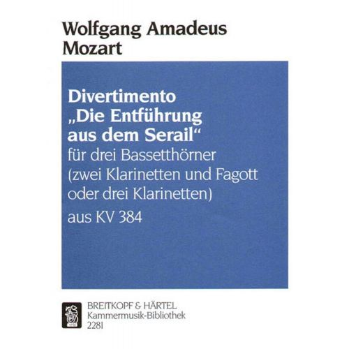 EDITION BREITKOPF MOZART WOLFGANG AMADEUS - DIVERTIMENTO