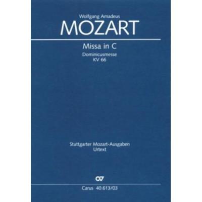 CARUS MOZART W.A. - MISSA C MAJOR KV 66 - REDUCTION PIANO