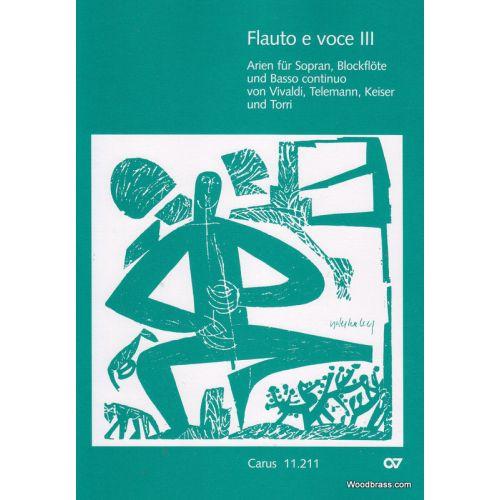 CARUS FLAUTO E VOCE III - VOIX, FLUTE A BEC ET BC - CONDUCTEUR