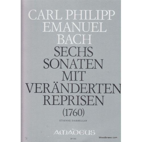 AMADEUS BACH C.P.E. - 6 SONATAS WQ 50 - PIANO