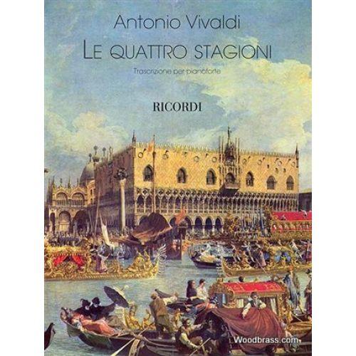 RICORDI VIVALDI A. - THE FOUR SEASONS - PIANO
