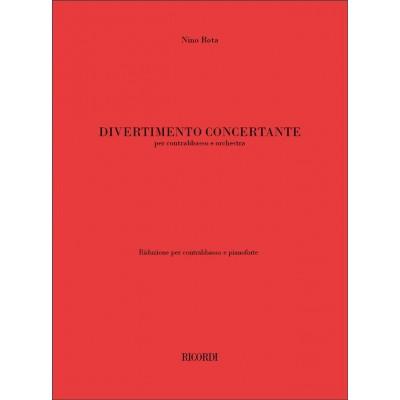 RICORDI ROTA NINO - DIVERTIMENTO CONCERTANTE - CONTREBASSE, PIANO