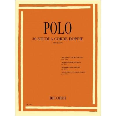 RICORDI POLO E. - 30 STUDI A CORDE DOPPIE - VIOLON
