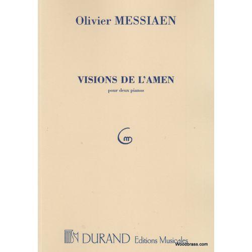 DURAND MESSIAEN O. - VISIONS DE L'AMEN - 2 PIANOS