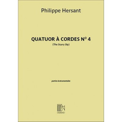 DURAND HERSANT PHILIPPE - QUATUOR A CORDES N°4