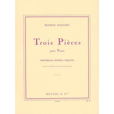 HEUGEL POULENC F. - TROIS PIECES - PIANO